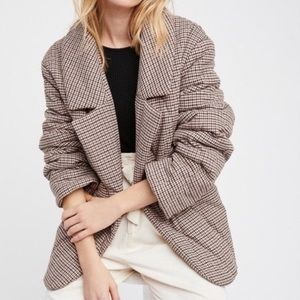 Free People Houndstooth Coat